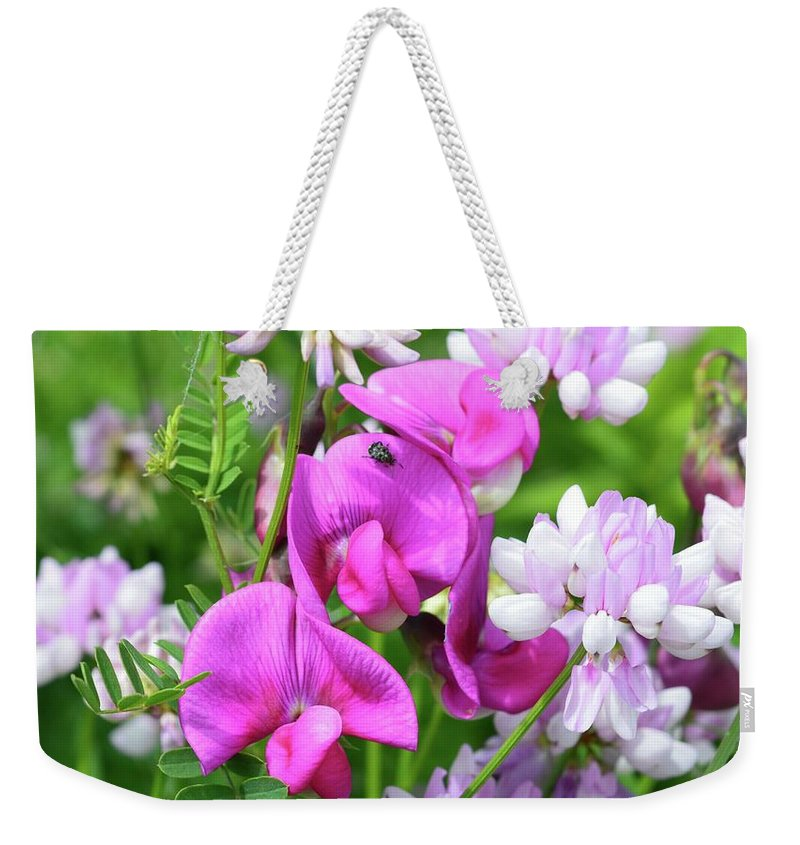 Nature Weekender Tote Bag featuring the photograph Shades Of Pink by Lyle Crump