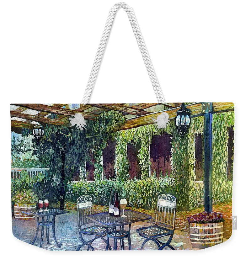 Wine Weekender Tote Bag featuring the painting Shades Of Van Gogh by Hailey E Herrera