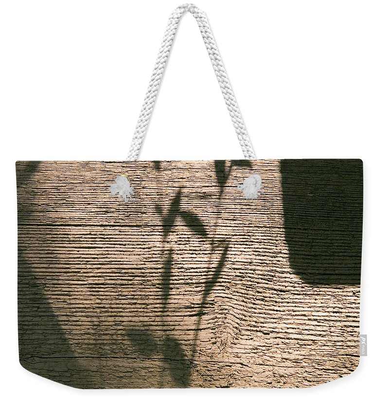 Weekender Tote Bag featuring the photograph Shadow by Clayton Bruster