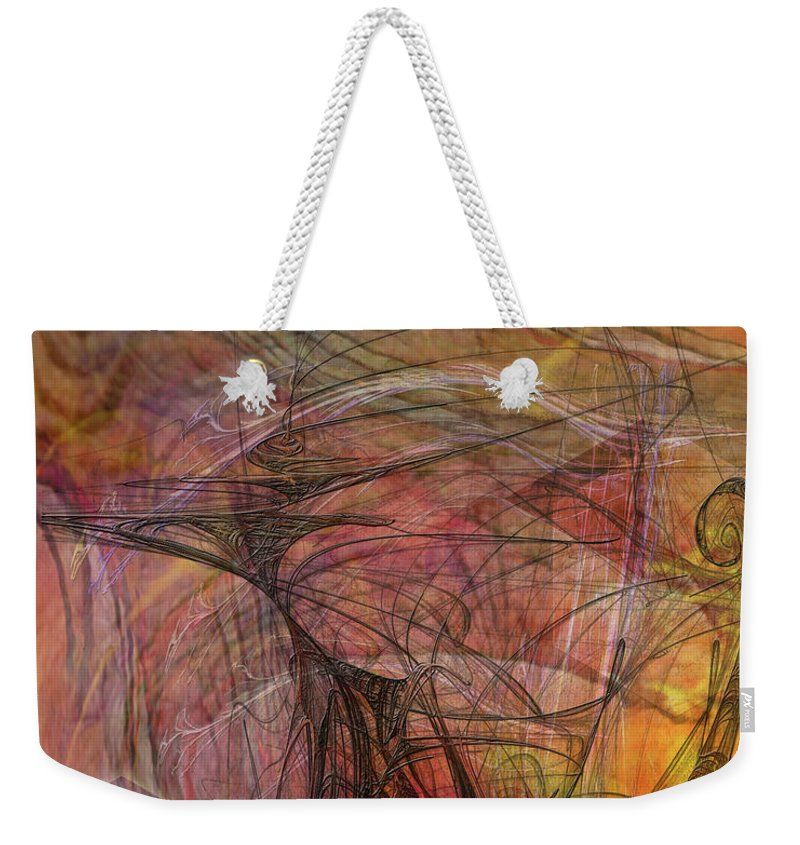 Shadow Dragon Weekender Tote Bag featuring the digital art Shadow Dragon by John Beck