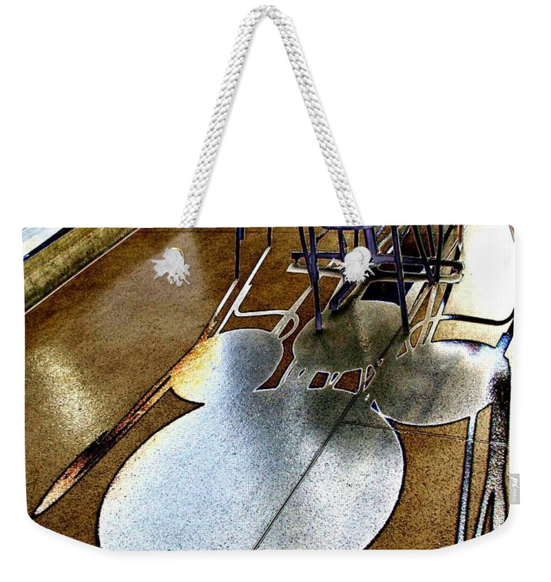 Shadow Weekender Tote Bag featuring the photograph Shadow Play by Tim Allen