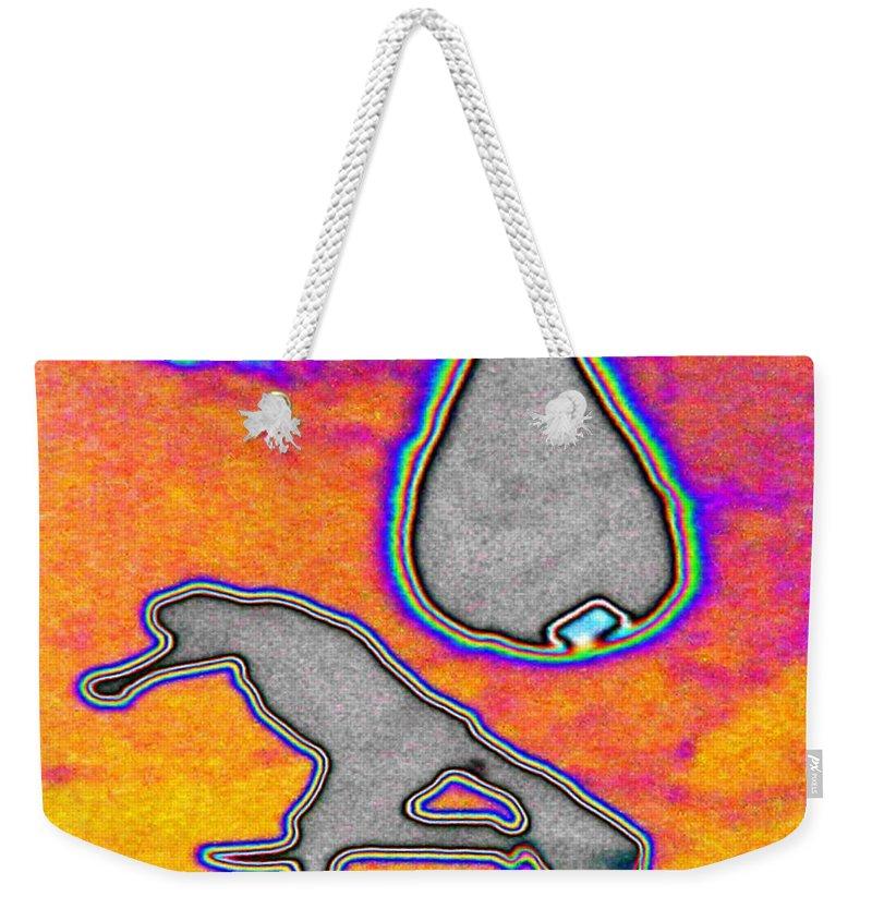 Shadow Weekender Tote Bag featuring the digital art Shadow by Tim Allen