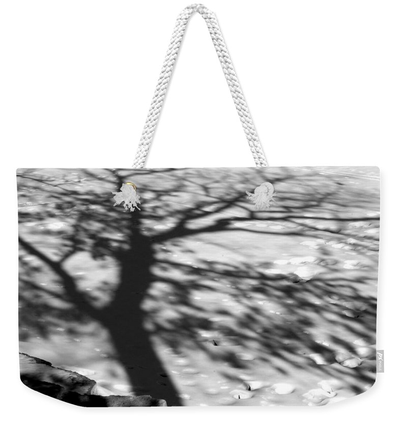 Shadow Weekender Tote Bag featuring the photograph Shadow Tree Herrick Lake Naperville Illinois by Michael Bessler