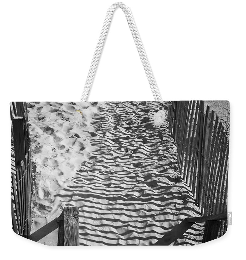 Shadow Weekender Tote Bag featuring the photograph Shadows In The Sand by Teresa Mucha