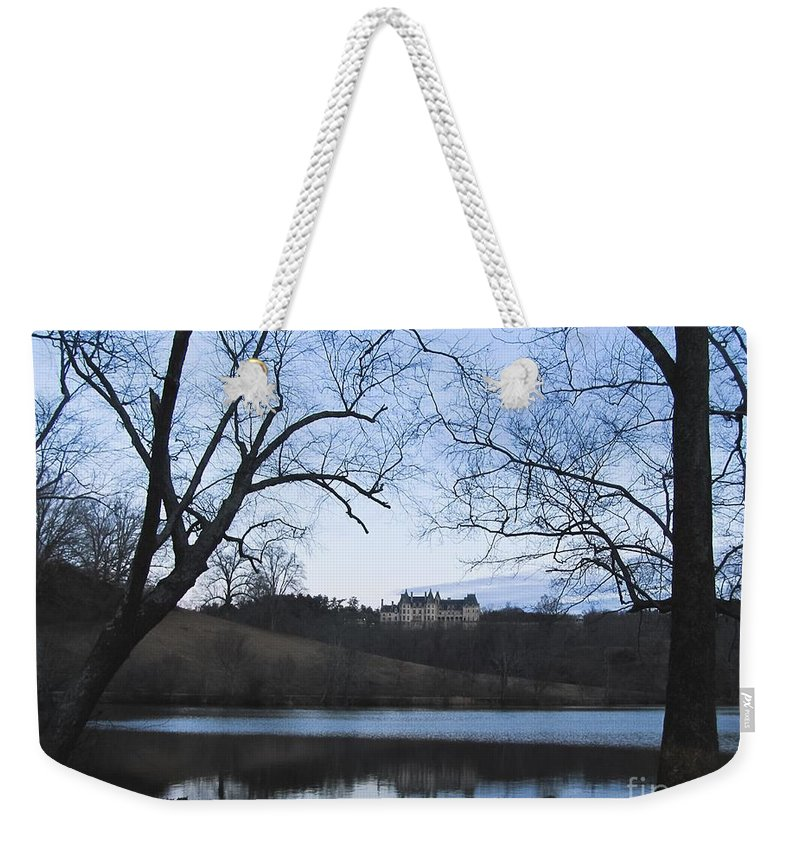Living Room Weekender Tote Bag featuring the photograph Shadows Of An Estate Home by Johnnie Stanfield