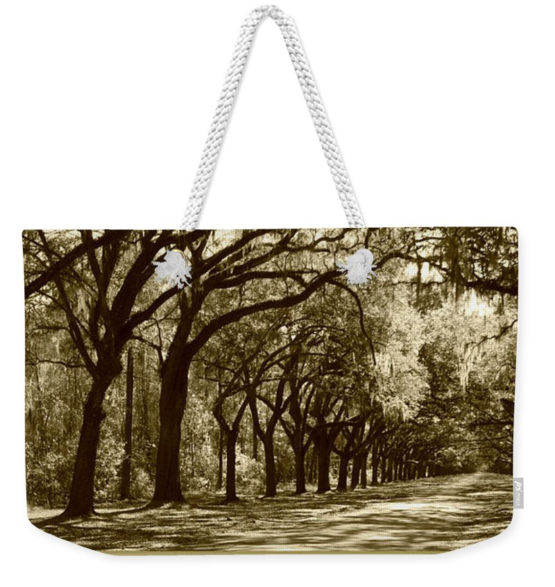 Shadows Weekender Tote Bag featuring the photograph Shadows Of The South by Carol Groenen