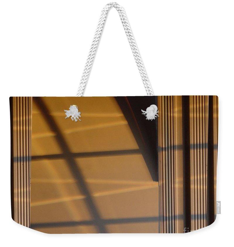 Windows Weekender Tote Bag featuring the digital art Shadows by Ron Bissett