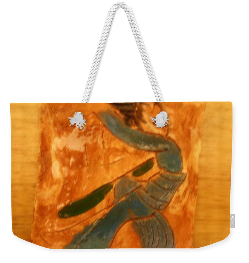 Jesus Weekender Tote Bag featuring the ceramic art Shake It - Tile by Gloria Ssali