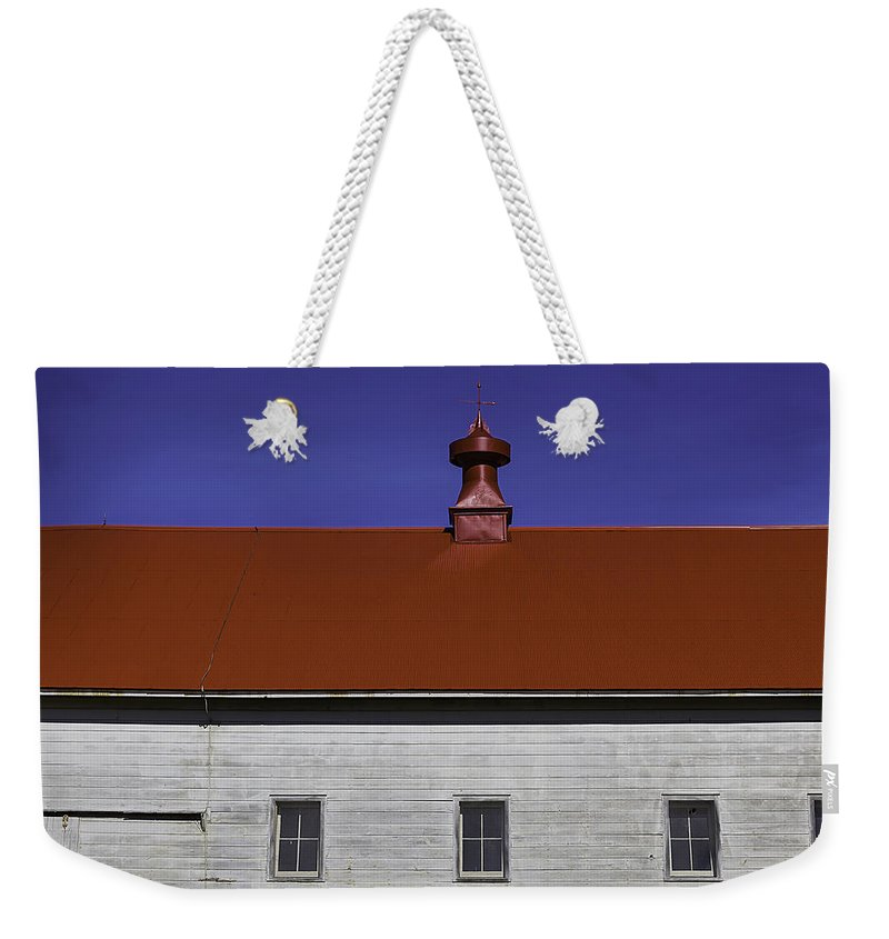 Shaker Weekender Tote Bag featuring the photograph Shaker Building by Garry Gay
