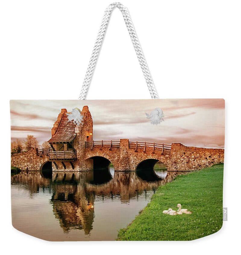 Bridge Weekender Tote Bag featuring the photograph Shakespeare Bridge by Iryna Goodall