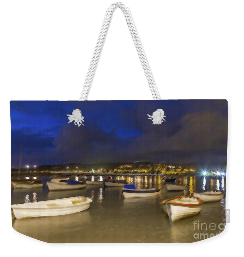 Fishing Weekender Tote Bag featuring the photograph Shaldon by Sebastien Coell