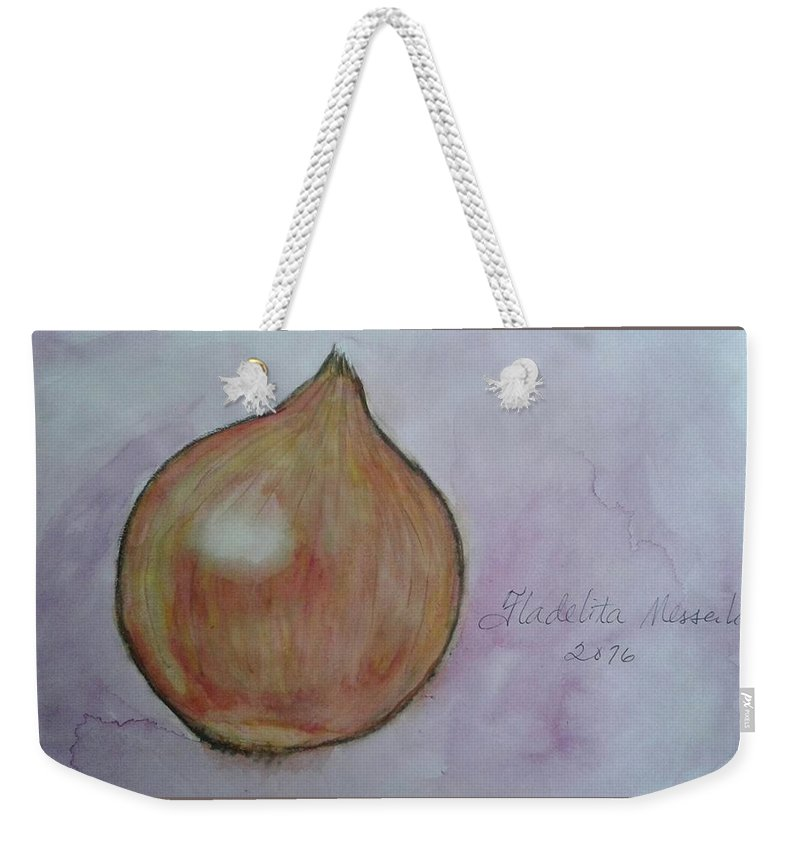 Spices Weekender Tote Bag featuring the painting Shallot by Fladelita Messerli-