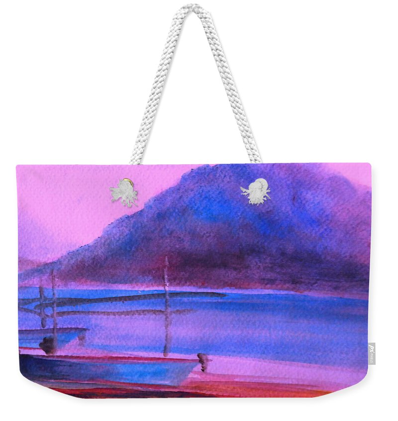 Landscape Weekender Tote Bag featuring the painting Shallow 07 by Pusita Gibbs