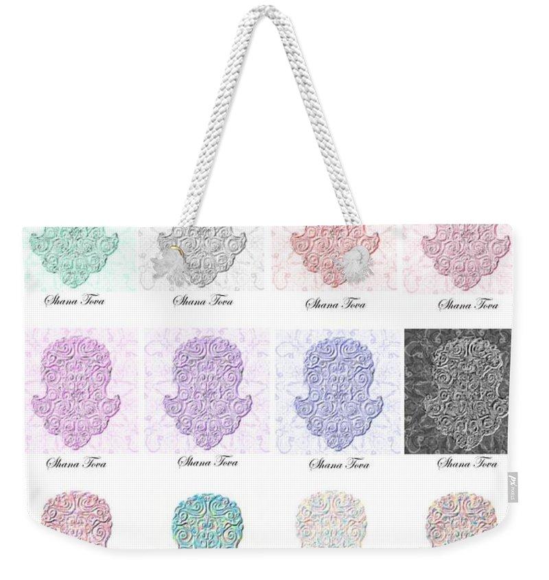 Shana Tova Weekender Tote Bag featuring the digital art shana tova- Happy New Year by Sandrine Kespi