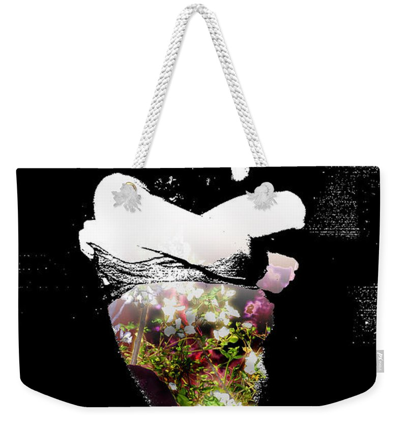 Love Weekender Tote Bag featuring the painting Shape Charge For Your Soul by Miko At The Love Art Shop