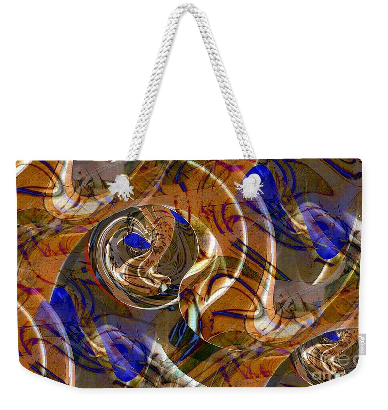 Wood Weekender Tote Bag featuring the digital art Shaped Wood by Ron Bissett