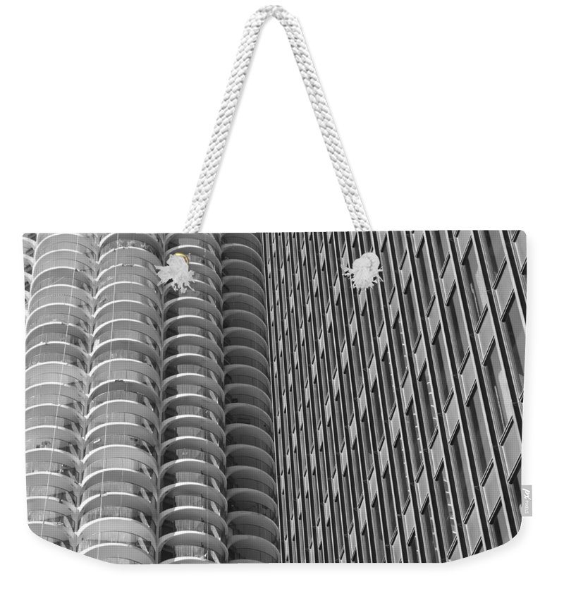 Marina Towers Weekender Tote Bag featuring the photograph Shapes by Lauri Novak
