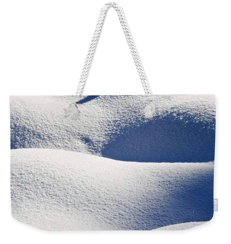 Snow Weekender Tote Bag featuring the photograph Shapes Of Winter by Mike Dawson