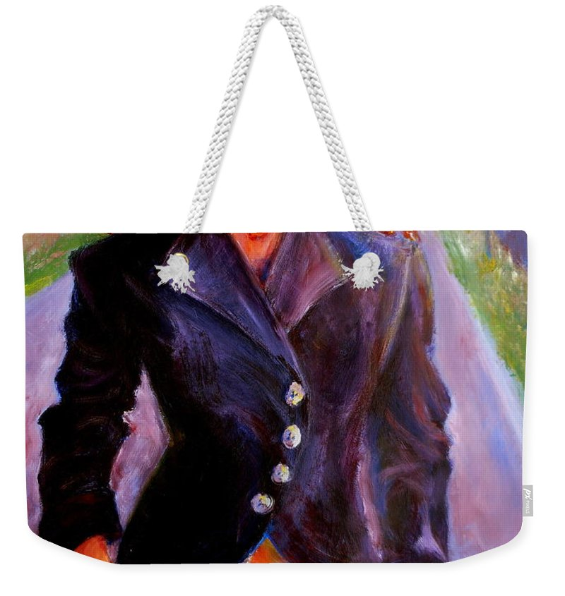 Acrylic Weekender Tote Bag featuring the painting Sharice by Jason Reinhardt