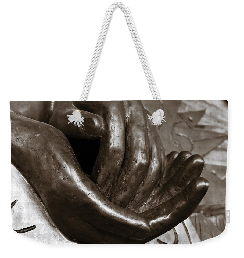 Hands Weekender Tote Bag featuring the photograph Sharing Hands by Marilyn Hunt
