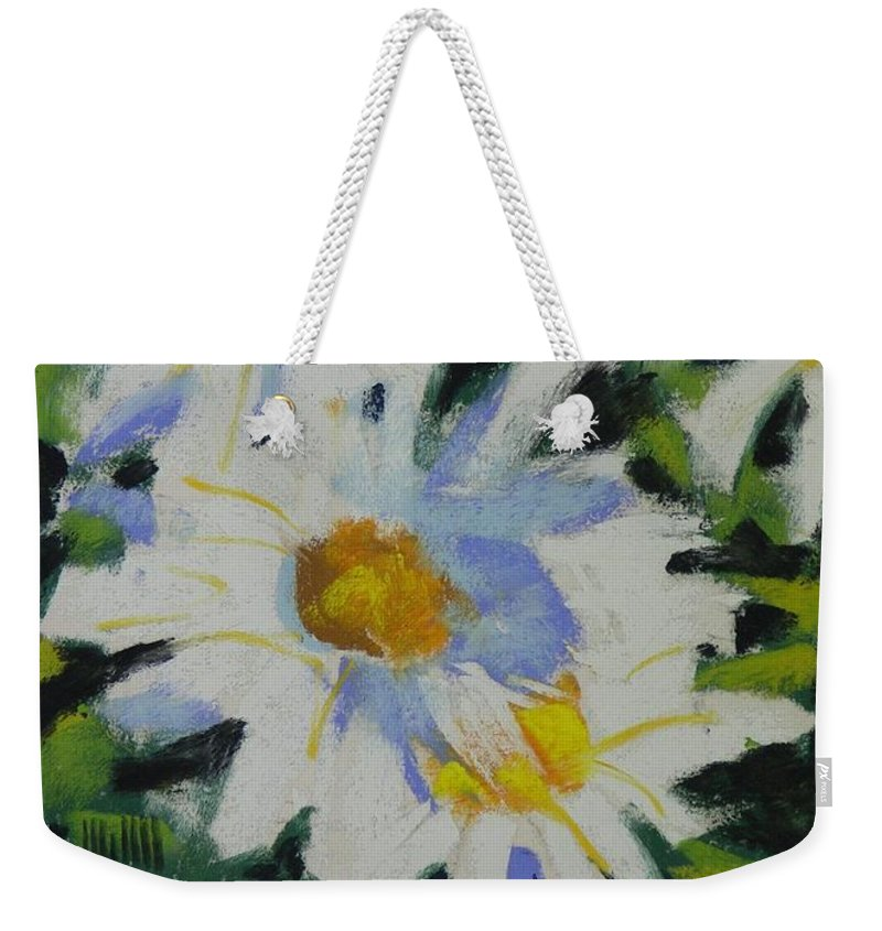 Pastels Weekender Tote Bag featuring the painting Shastas by Mary McInnis