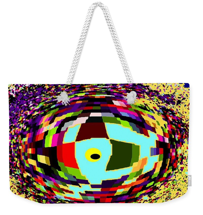 Abstract Weekender Tote Bag featuring the digital art Shattered by Ian MacDonald