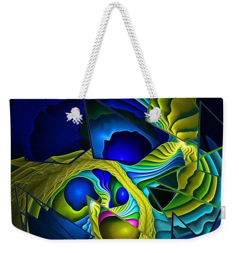 Fantasy Weekender Tote Bag featuring the digital art Shattered Visions. by David Lane