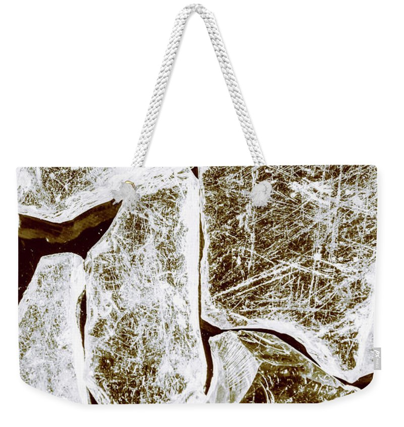 Damage Weekender Tote Bag featuring the photograph Shattering Shards by Jorgo Photography - Wall Art Gallery