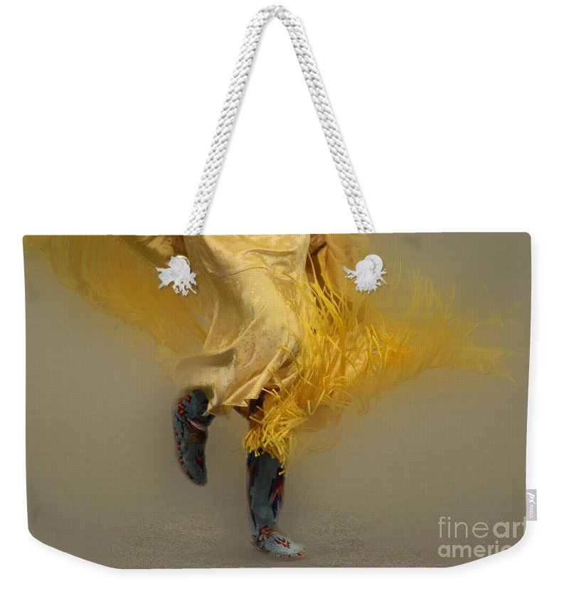 Pow Wow Weekender Tote Bag featuring the photograph Pow Wow Shawl Dancer 9 by Bob Christopher