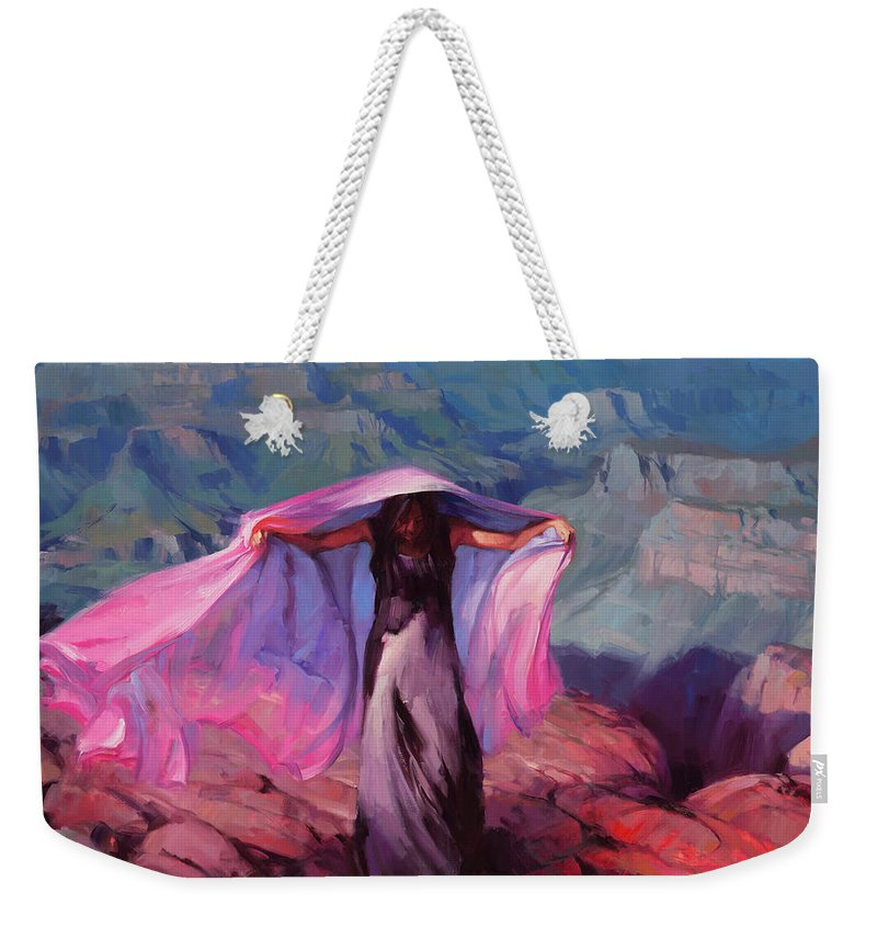 Dancer Weekender Tote Bag featuring the painting She Danced By The Light Of The Moon by Steve Henderson