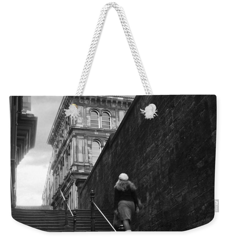 Bw Weekender Tote Bag featuring the photograph she by Dorit Fuhg