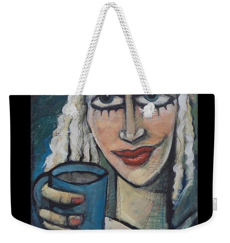Coffee Weekender Tote Bag featuring the painting She Had Some Dreams... Poster by Tim Nyberg