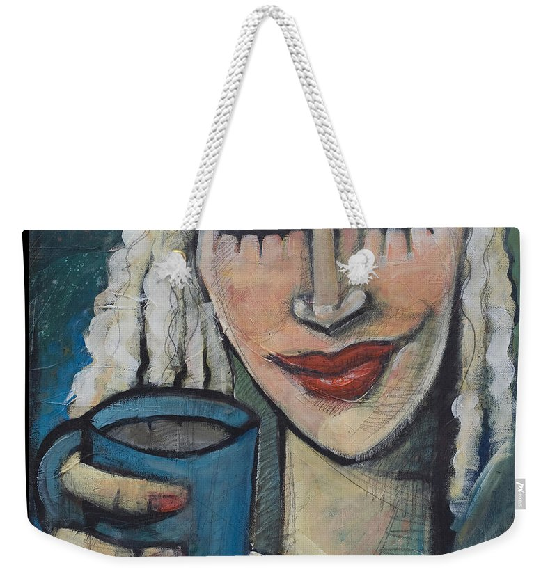 Pleasant Weekender Tote Bag featuring the painting She Had Some Dreams... by Tim Nyberg
