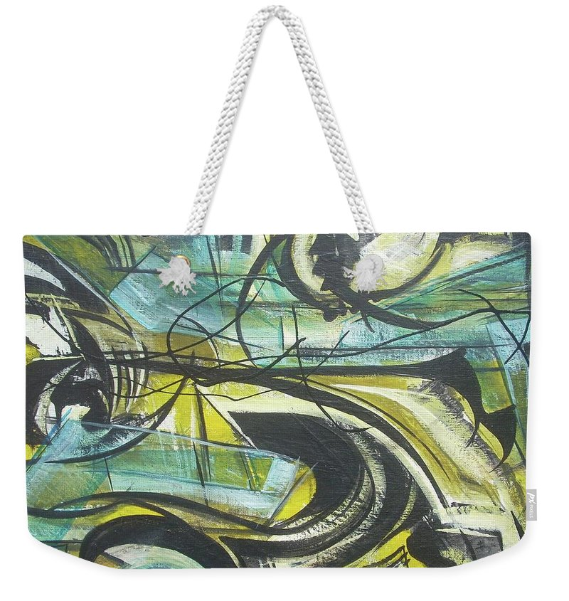 Beautiful Weekender Tote Bag featuring the painting She Moves Me Vol1 by Hasaan Kirkland