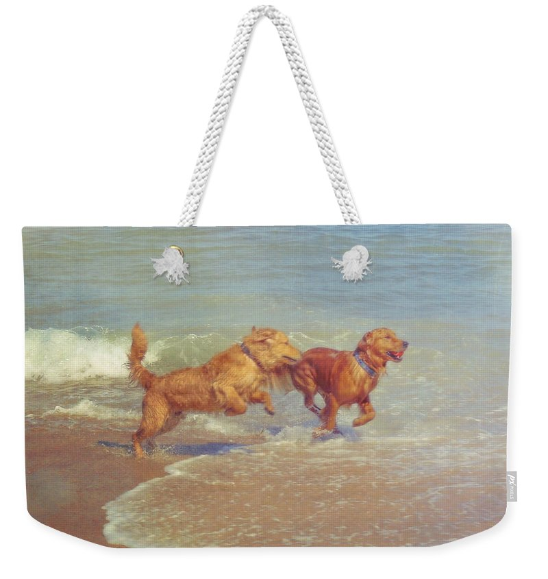 Dog Weekender Tote Bag featuring the photograph Sheer Joy by JAMART Photography