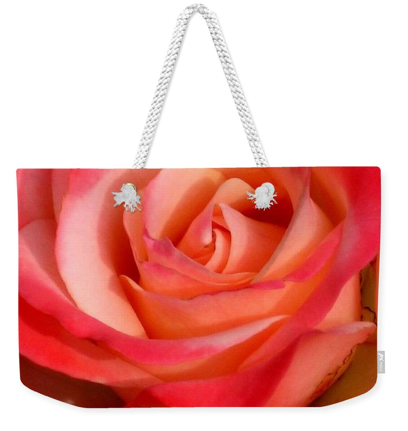 Rose Weekender Tote Bag featuring the photograph Sheer Magic by Marla McFall