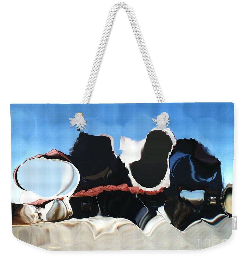 Digital Art Weekender Tote Bag featuring the digital art Sheet Theory Meets Black Hole by Ron Bissett