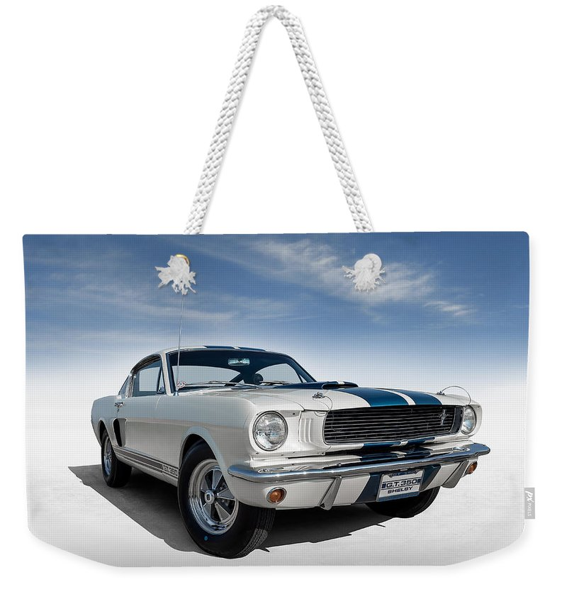 Mustang Weekender Tote Bag featuring the digital art Shelby Mustang Gt350 by Douglas Pittman
