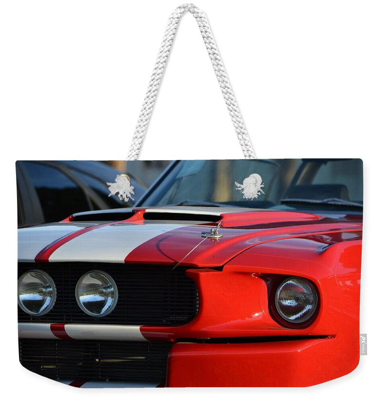 Weekender Tote Bag featuring the photograph Shelby Gt500 by Dean Ferreira