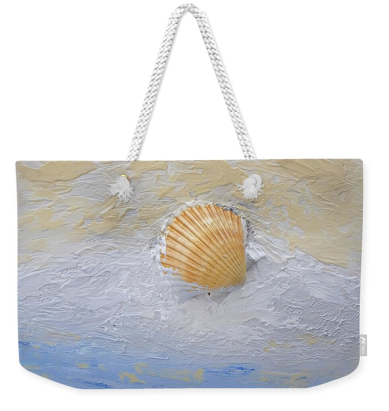 Seashell Weekender Tote Bag featuring the painting Shell by Dick Bourgault