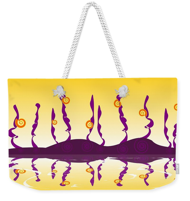 Shell Weekender Tote Bag featuring the digital art Shell Life by Anastasiya Malakhova