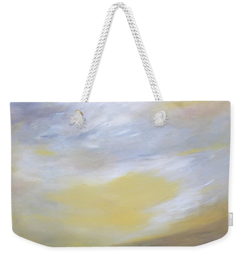 Abstract Weekender Tote Bag featuring the painting Sheltering Sky by Dick Bourgault