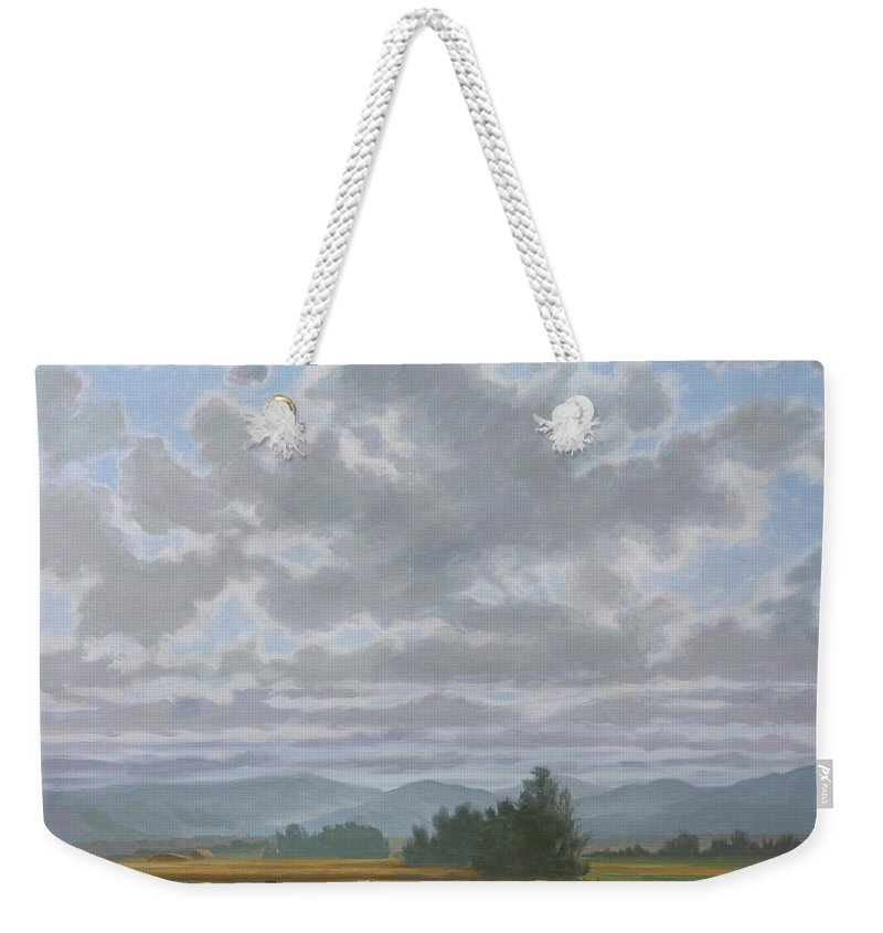 Oil Paintings Weekender Tote Bag featuring the painting Shennandoah Sky by Guy Crittenden