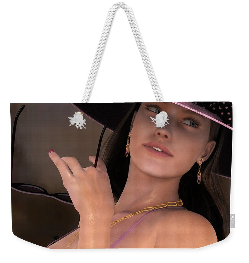 3d Weekender Tote Bag featuring the digital art She's A Lady by Jutta Maria Pusl