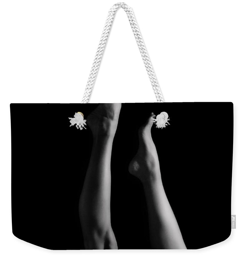 Legs Weekender Tote Bag featuring the photograph She's Got Legs by Donna Blackhall