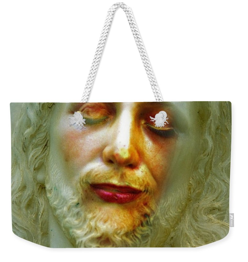 Jesus Weekender Tote Bag featuring the photograph Shesus by Skip Hunt