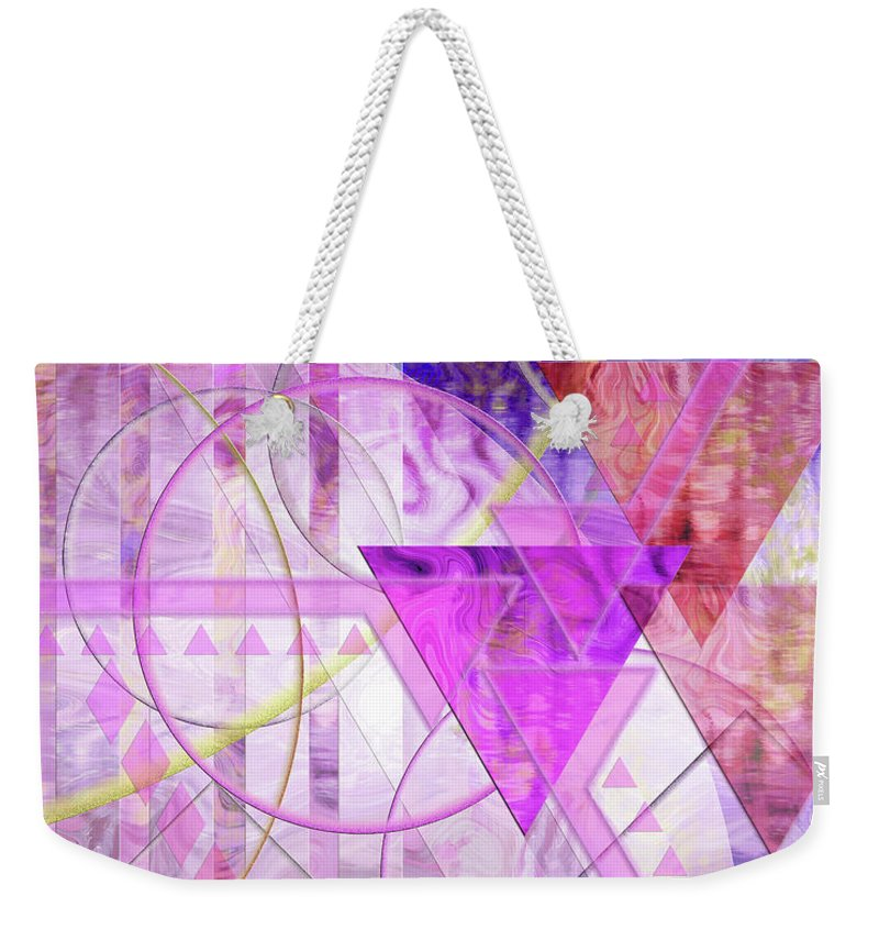 Shibumi Weekender Tote Bag featuring the digital art Shibumi Spirit by John Beck