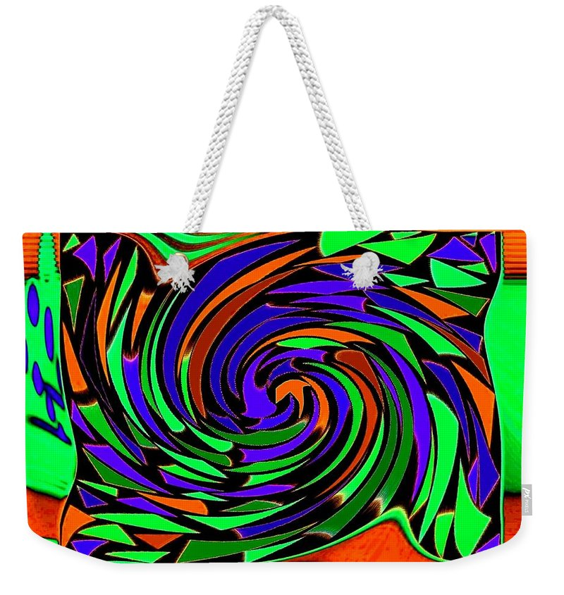 Sahara Weekender Tote Bag featuring the digital art Shifting Sands by Will Borden