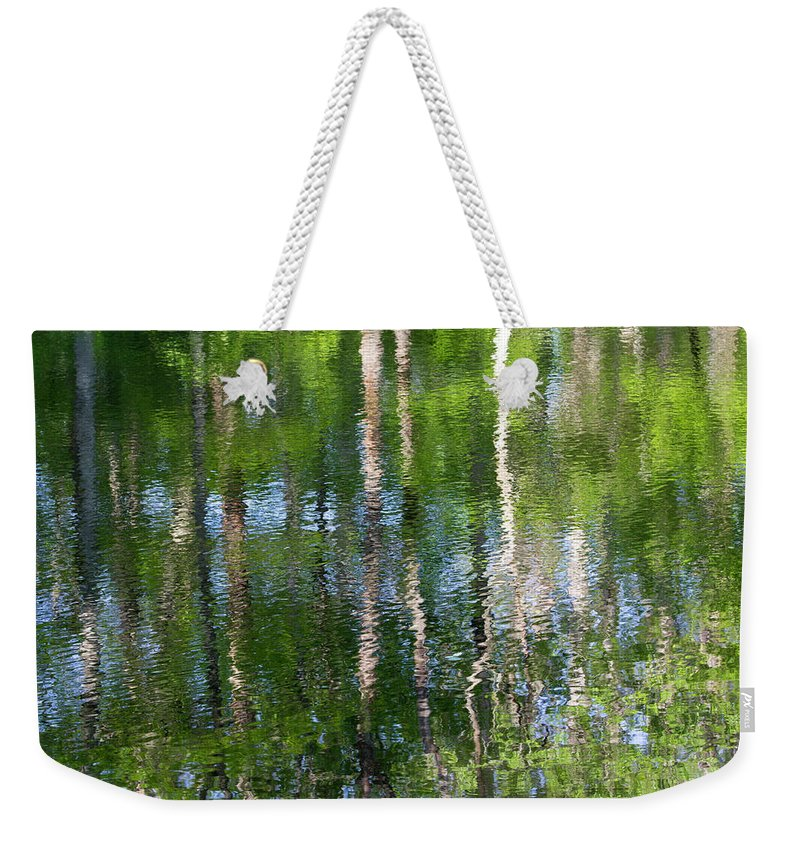 Water Weekender Tote Bag featuring the photograph Shimmering Reflection by Marvin Averett