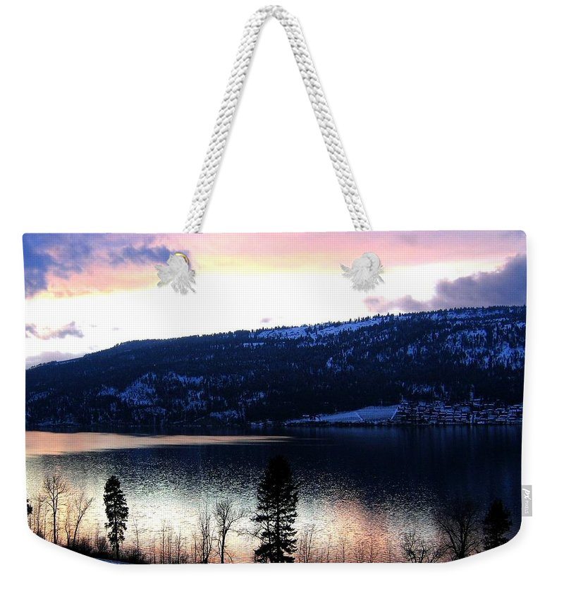 Wood Lake Weekender Tote Bag featuring the photograph Shimmering Waters by Will Borden